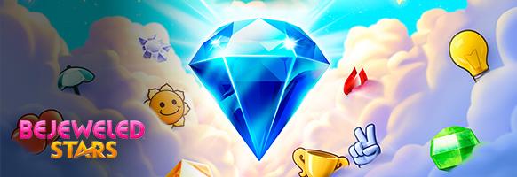 Gratis-Spielspaß<br>im brandneuen<br>Bejeweled Stars!